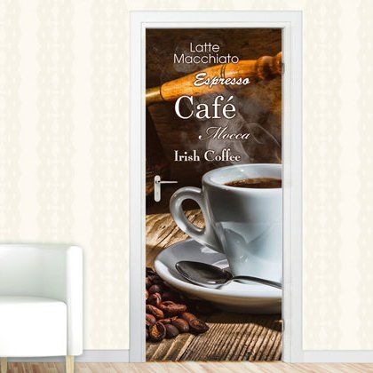 East Urban Home Latte Macchiato Door Sticker #lattemacchiato