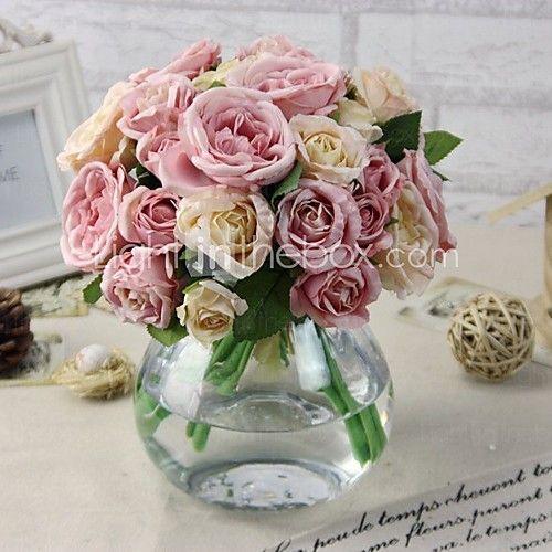 Flores artificiales 1 rama ramos de flores para boda for Plastico para estanques artificiales