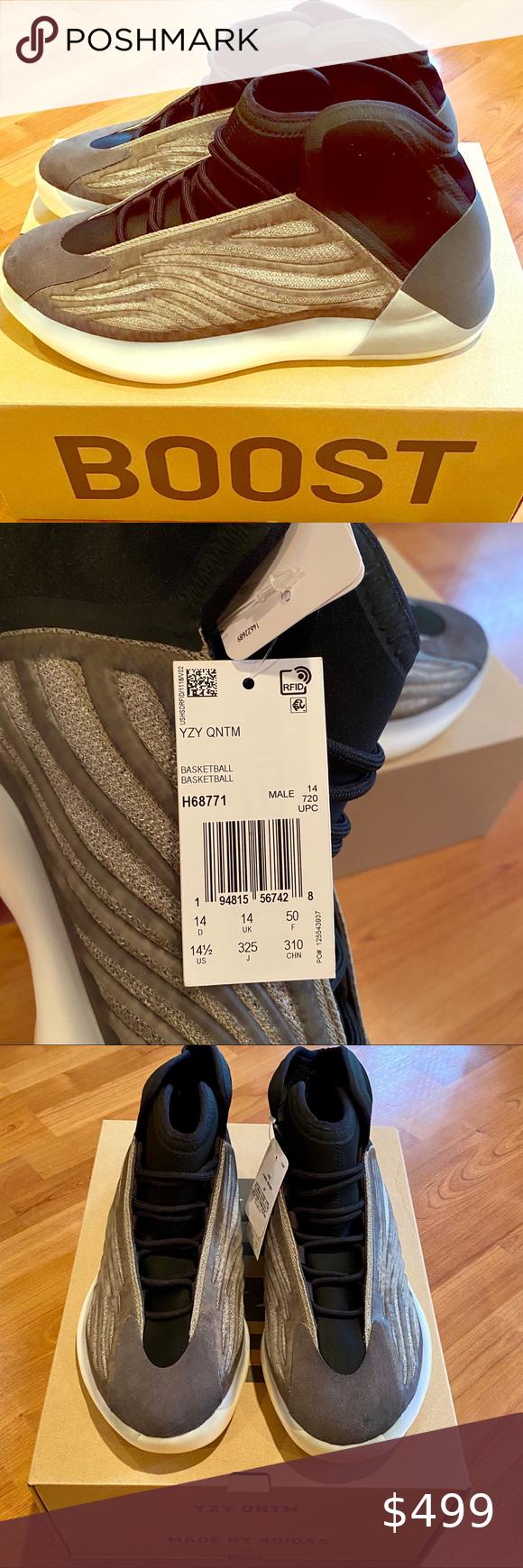 Bnib Size 14 1 2 Yeezy Quantum Barium Basketball In 2020 Yeezy Mens Yeezy Yeezy Shoes