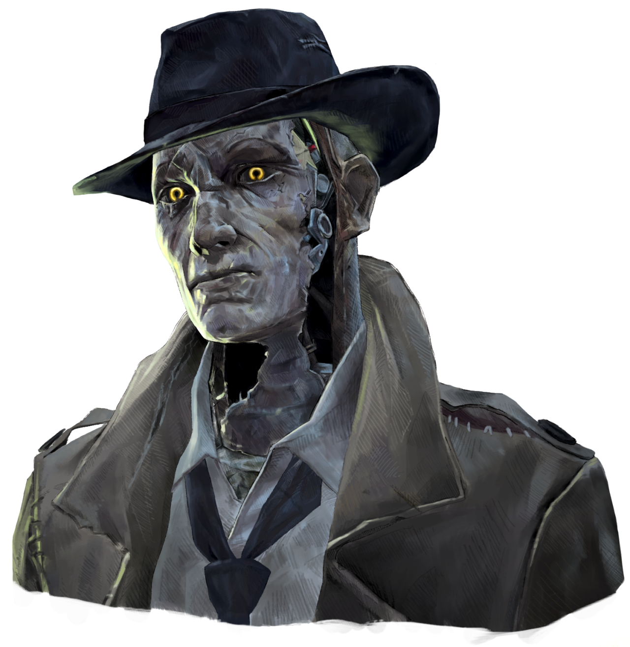 Girl Geese Fallout Art Nick Valentine Fallout