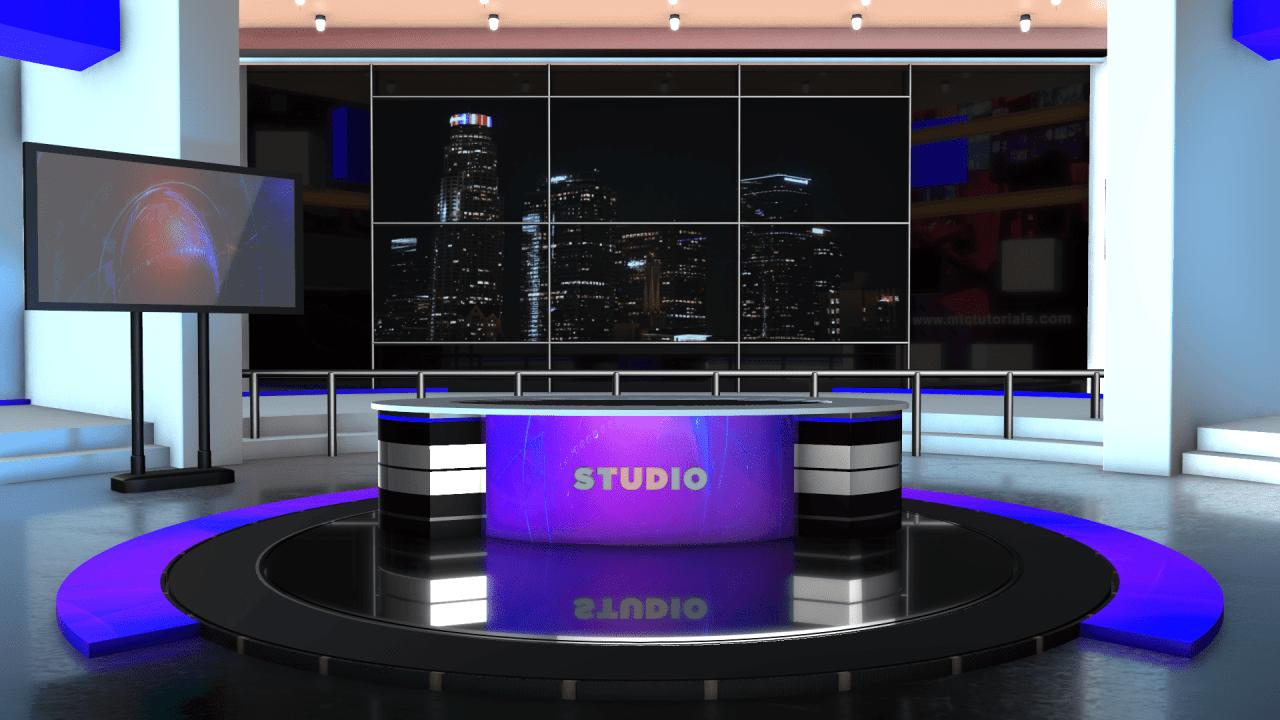 3d News Room 4k Images Free Download Mtc Tutorials Studio Background Images News Studio Studio