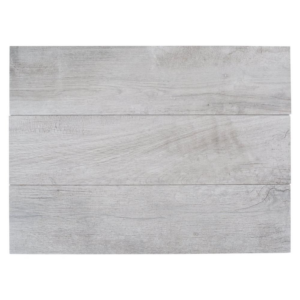 Hard Gray Wood Plank Porcelain Tile House