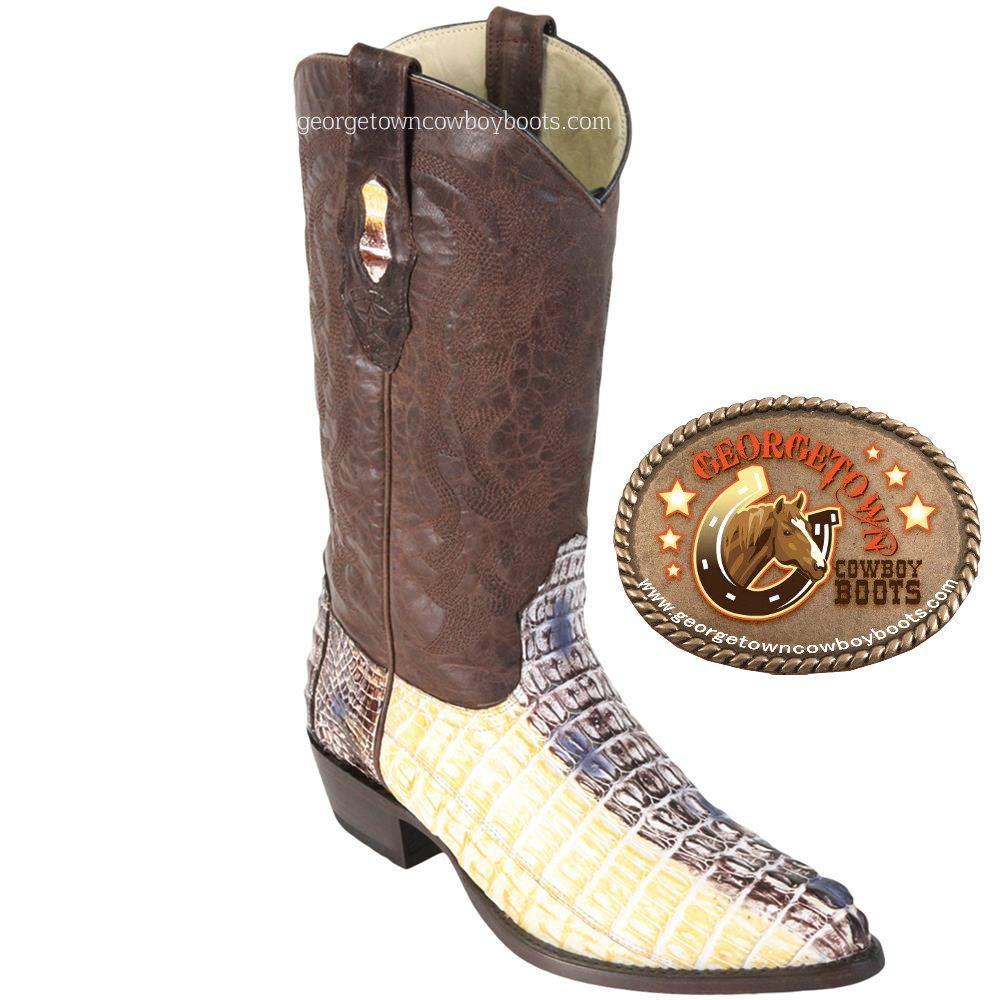 ec9908640a9 CAIMAN ALLIGATOR MEN'S WESTERN Cowboy Boots,Natural-color by Los ...