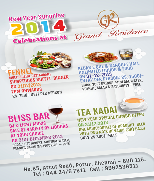 New Year Surprise 2014 Celebrations Grand Residence With Images New Year Special Newyear Artistic Visions