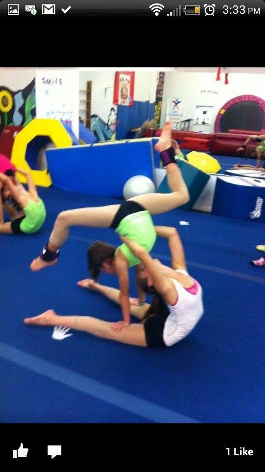 Acro double trick | Dance | Pinterest | Dancing, Yoga and ...