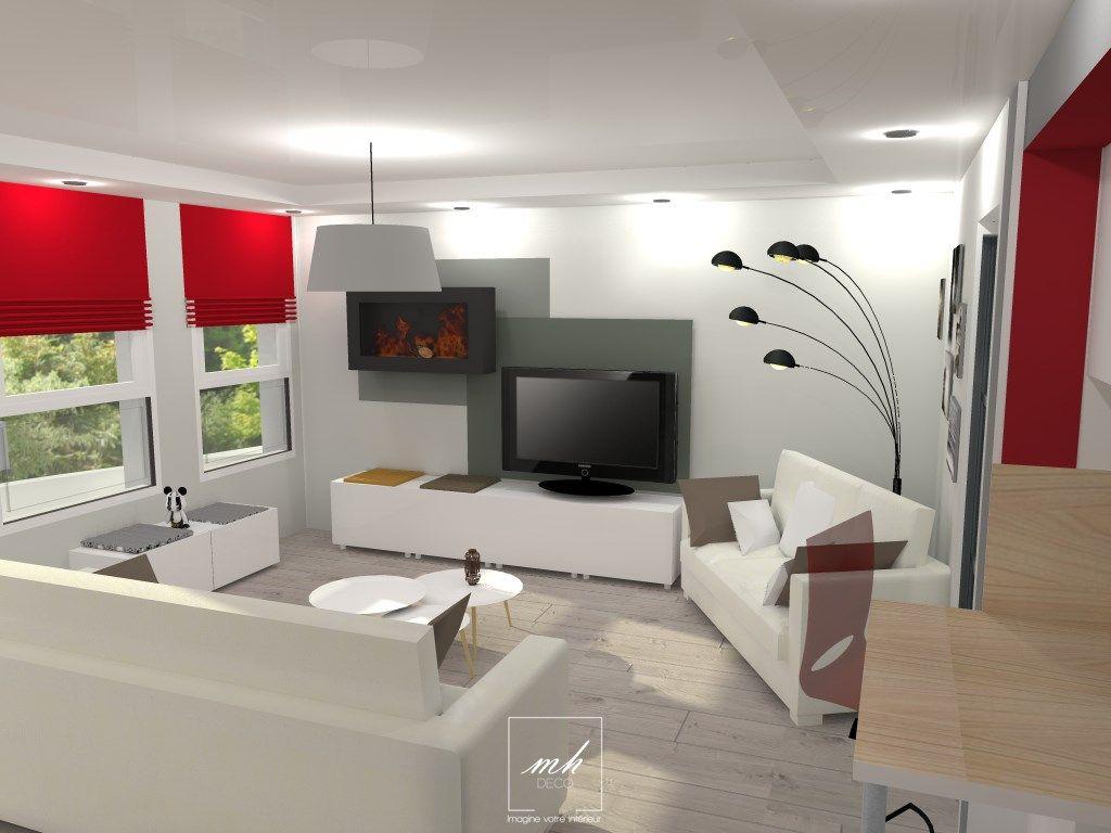 Tiphanie r agence un espace salon dans le val d 39 oise et cela dans un esprit contemporain - Salon de massage val d oise ...