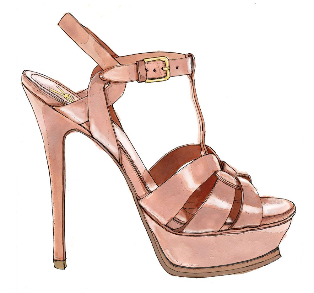 ysl shoe sketch so jealous of this persons talent