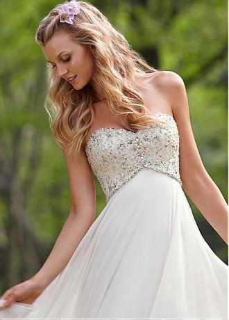 899150272 Buy discount Charming Chiffon & Satin Empire Sweetheart Empire Waist Wedding  Dress at Dressilyme.com