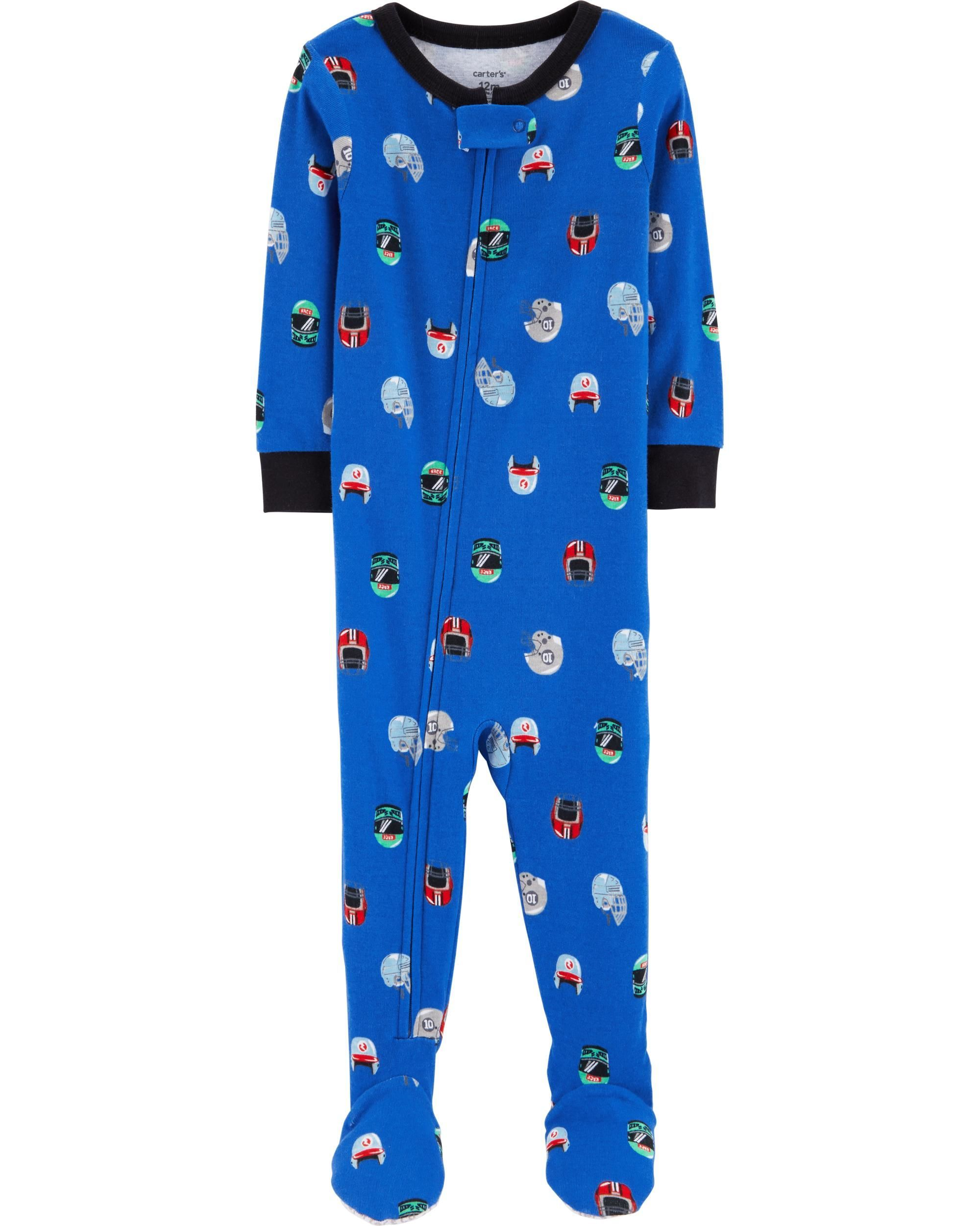 e11b2567887f 1-Piece Football Snug Fit Cotton PJs