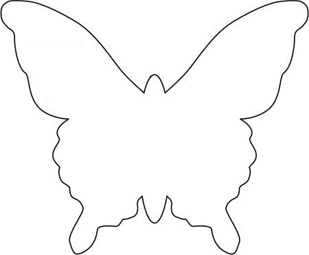 Butterfly template she used to make a mobile bjl for Butterfly paper cut out template