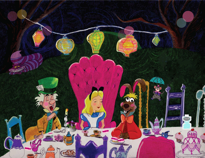 Alice In Wonderland Tea Party Mad Hatter Cheshire Cat Lanterns