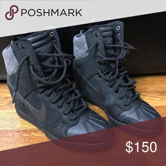 28718eabf8 Dunk Sky Hi  Hidden Wedge Sneaker Snow Boot Worn twice. Nike Shoes Winter    Rain Boots