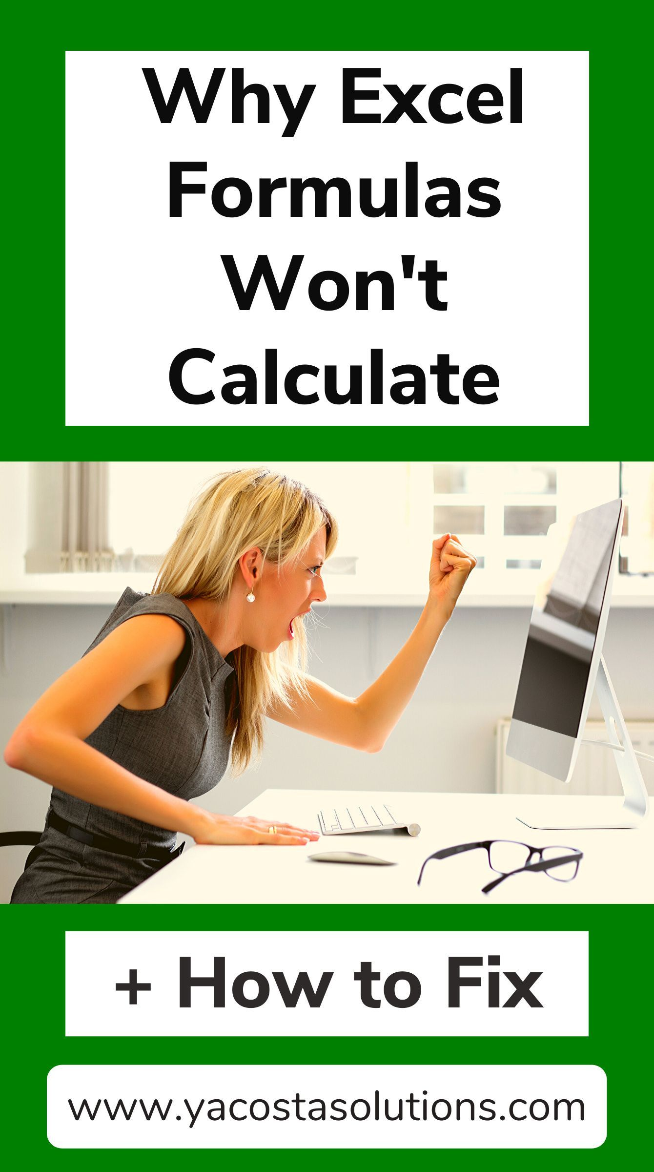 Reasons Why Excel Formulas Won T Calculate How To Fix