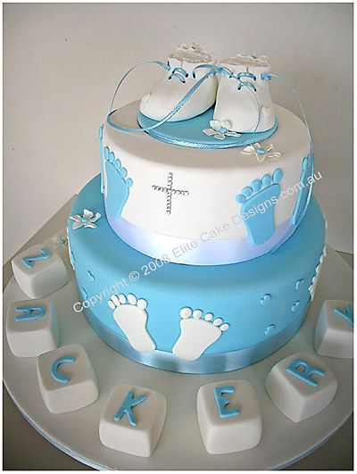 Christening Cake Designs For Baby Boy : Baby Botties Tower, Christening Cakes Sydney, Christening ...