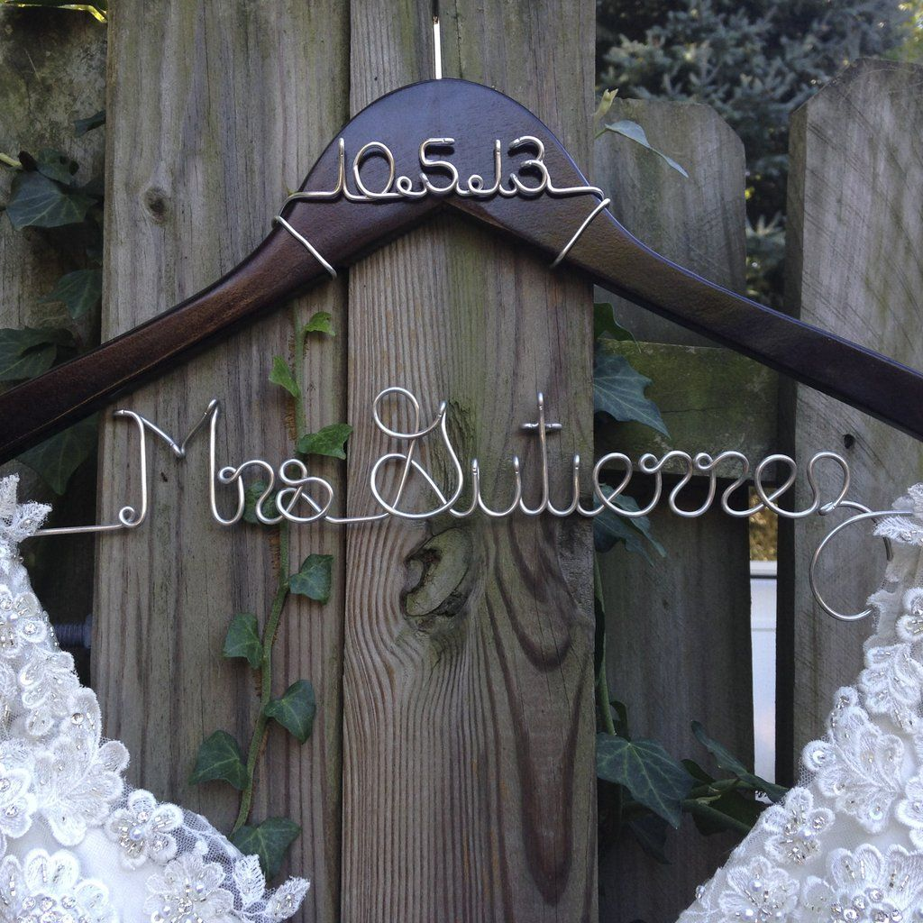 Bride Hanger with Wedding Date | Hanger, Bridal showers and Wedding