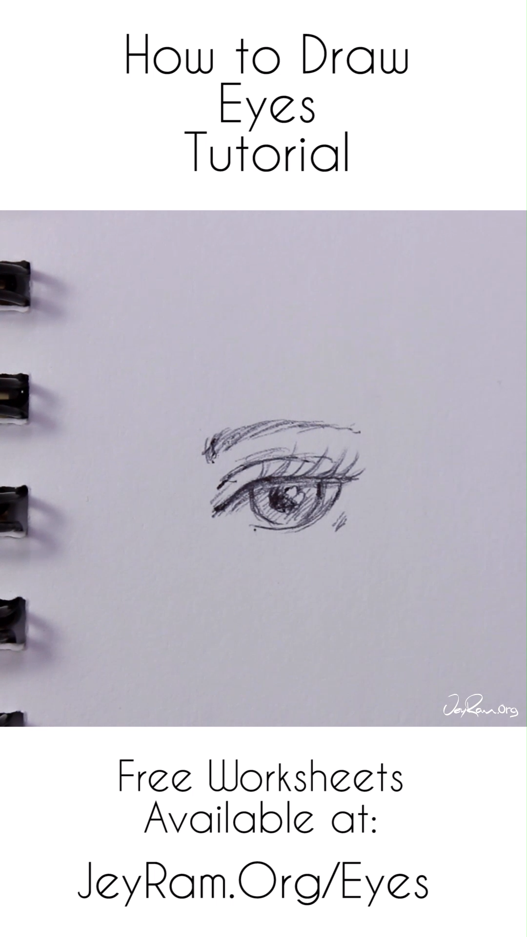 How To Draw The Eyes Step By Step For Beginners Free Printable Pdf How To Draw The Eyes Step By Step For Beg In 2020 Eye Drawing Pencil Drawings For Beginners Drawings