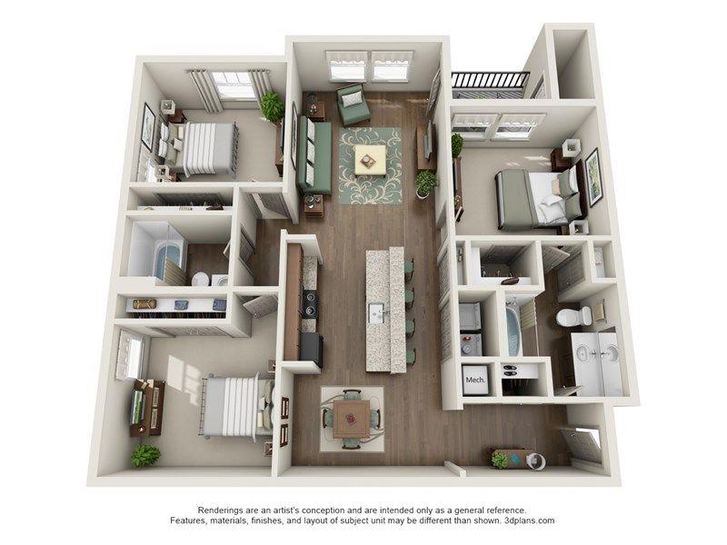 Floor Plans Of Watercourse Apartments In Graham Nc Condo Floor Plans Bathroom Floor Plans Apartment Floor Plans