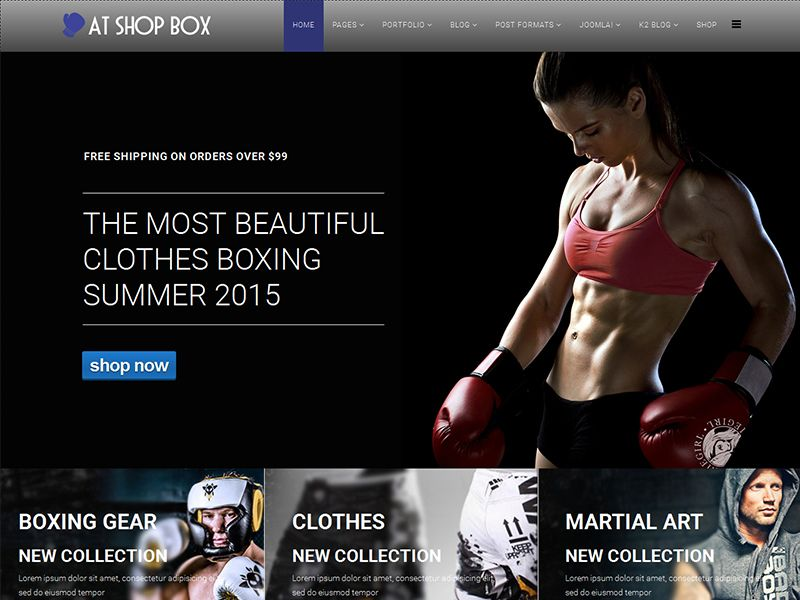 AT Shop Box is Joomla Boxing Template that targets for