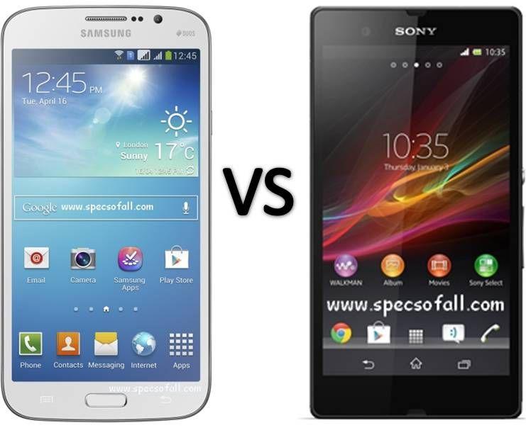Compare Samsung Galaxy Mega 5 8 Vs Sony Xperia Z Samsung Galaxy S4 Mini Samsung Smartphone Comparison