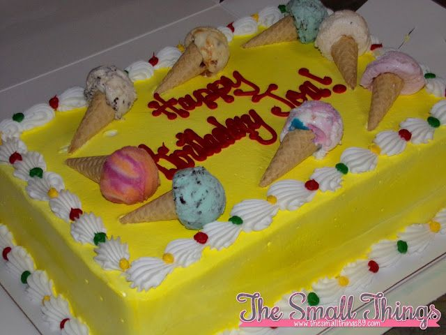 BaskinRobbins Ice Cream Cakes Are Delicious Get One For Your Party