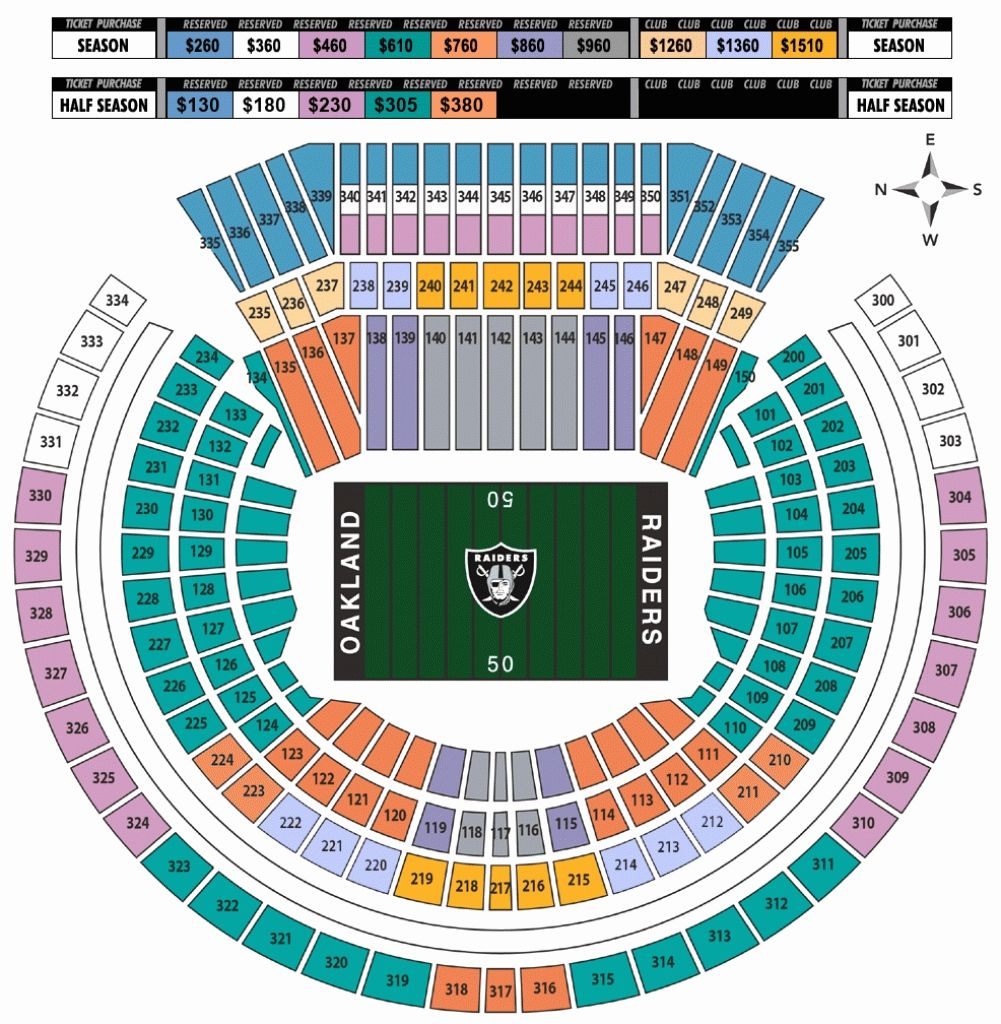 The Most Elegant As Well As Gorgeous Raiders Stadium Seating Chart In 2020 Oakland Coliseum Seating Charts Stadium