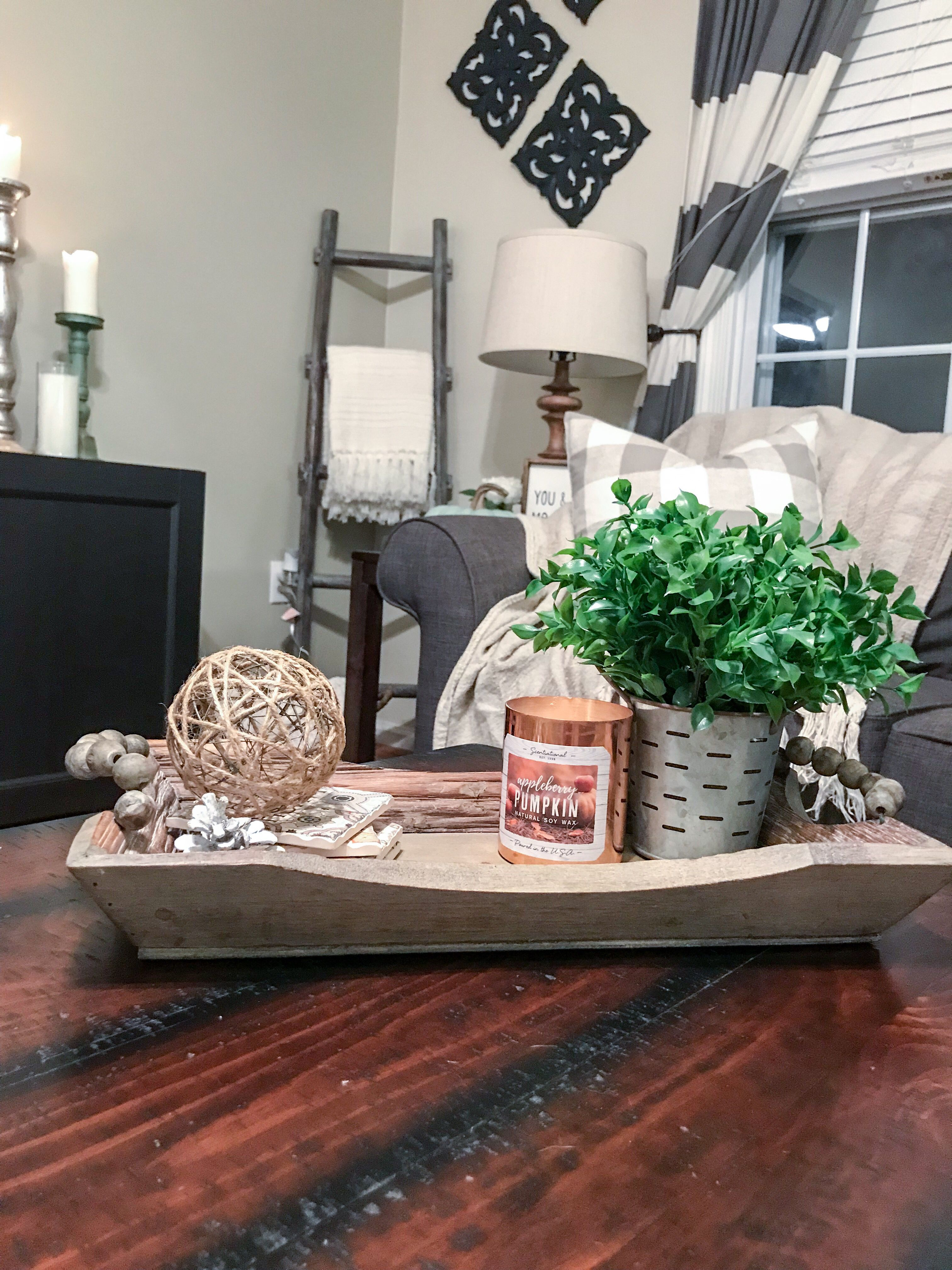 Wooden Tray Decor Wooden Tray Decor Decorating Coffee Tables Table Decorations