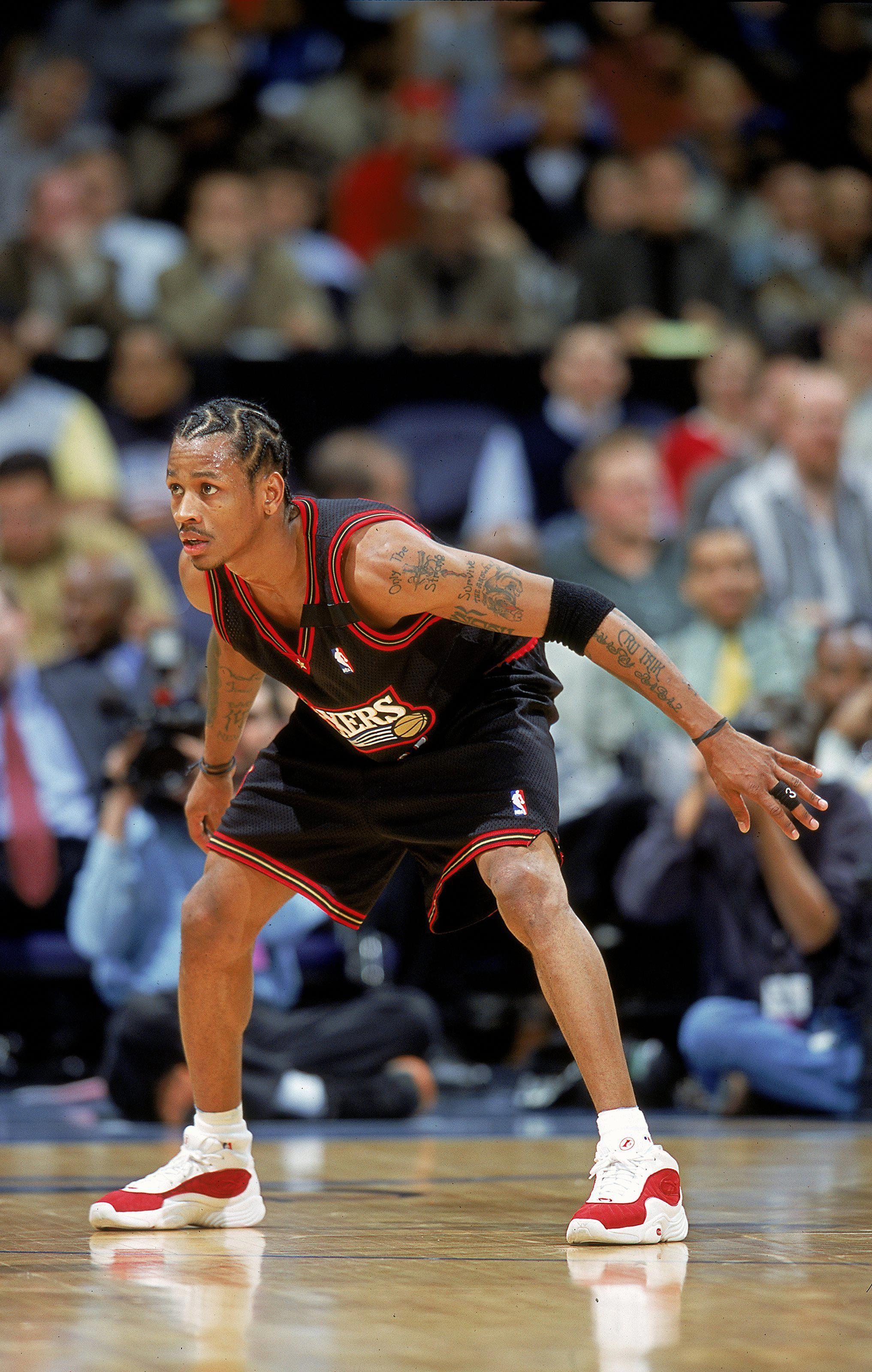 Allen Iverson classic cornrows, Philadelphia 76ers Allen