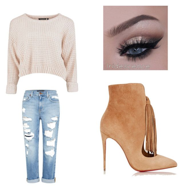 """""""Untitled #47"""" by bbygurlbad on Polyvore featuring Genetic Denim and Christian Louboutin"""