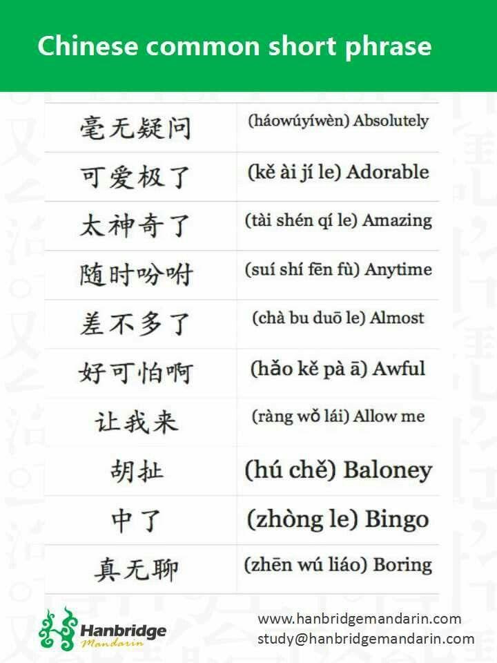 Frases Cortas Comunes Aprender Chino China Y Idiomas
