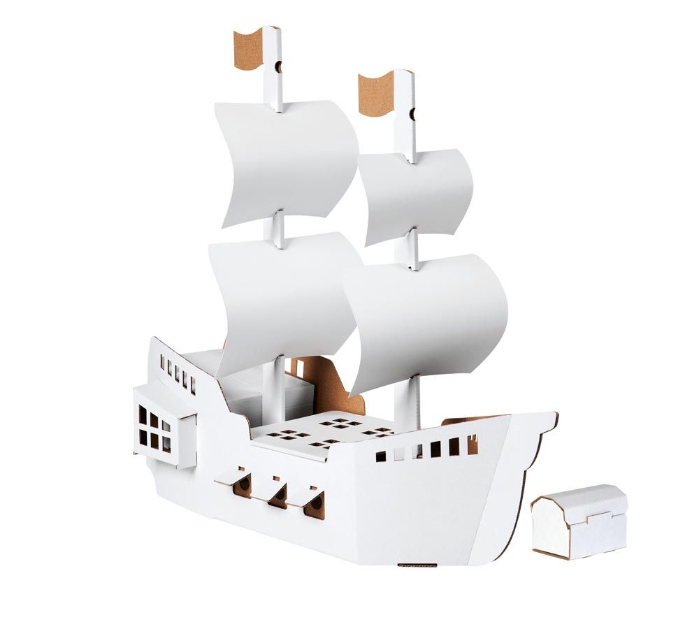 Colour me happy - Calafant makes these fantastic flat-pack sets – you just construct and colour in and then play away. All sorts of kits, from castles to pirate ships are available