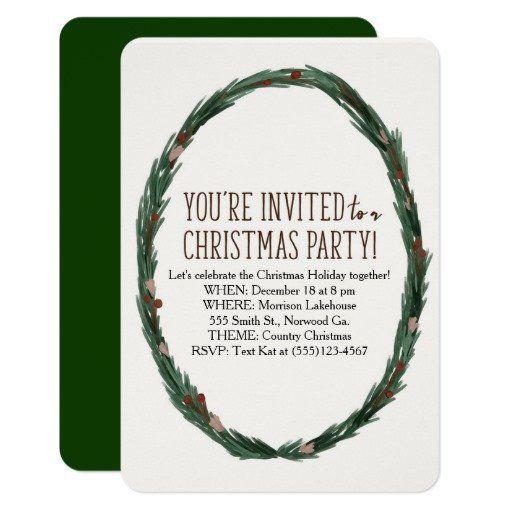 Free Christmas Party Invitation Template DIY Printable Printables