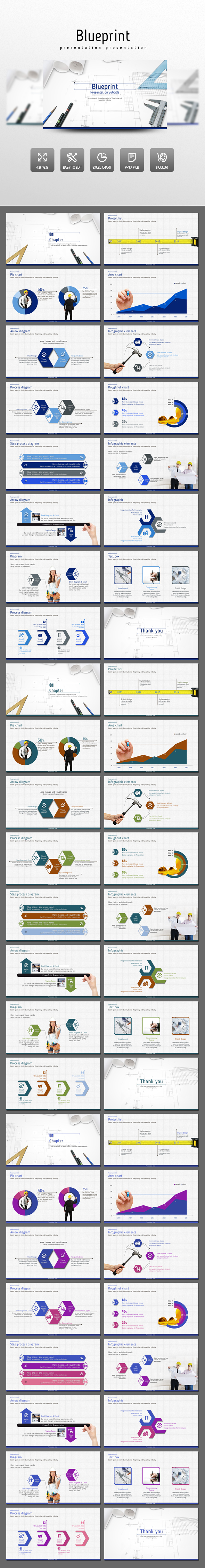 Blueprint PowerPoint Presentation Template #design #slides Download:  Http://graphicriver.net/item/blueprint/14137250?refu003dksioks