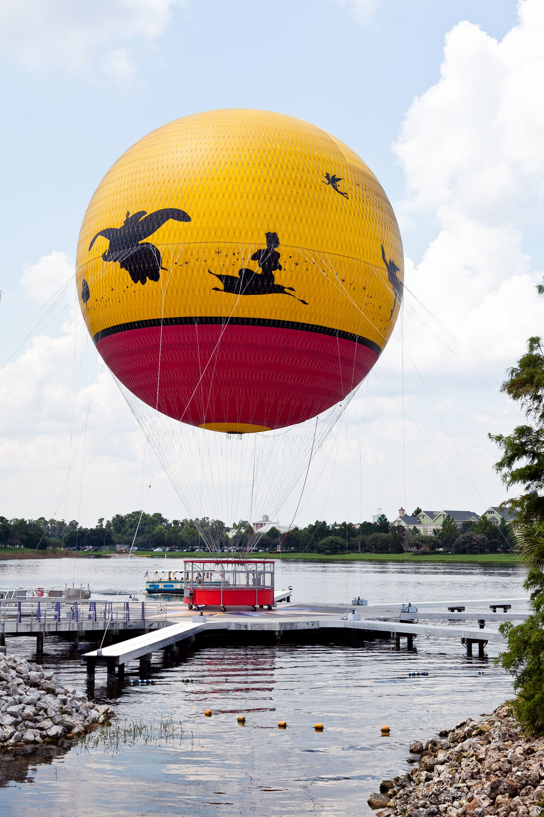 Characters in flight; a hot air balloon ride in Downtown
