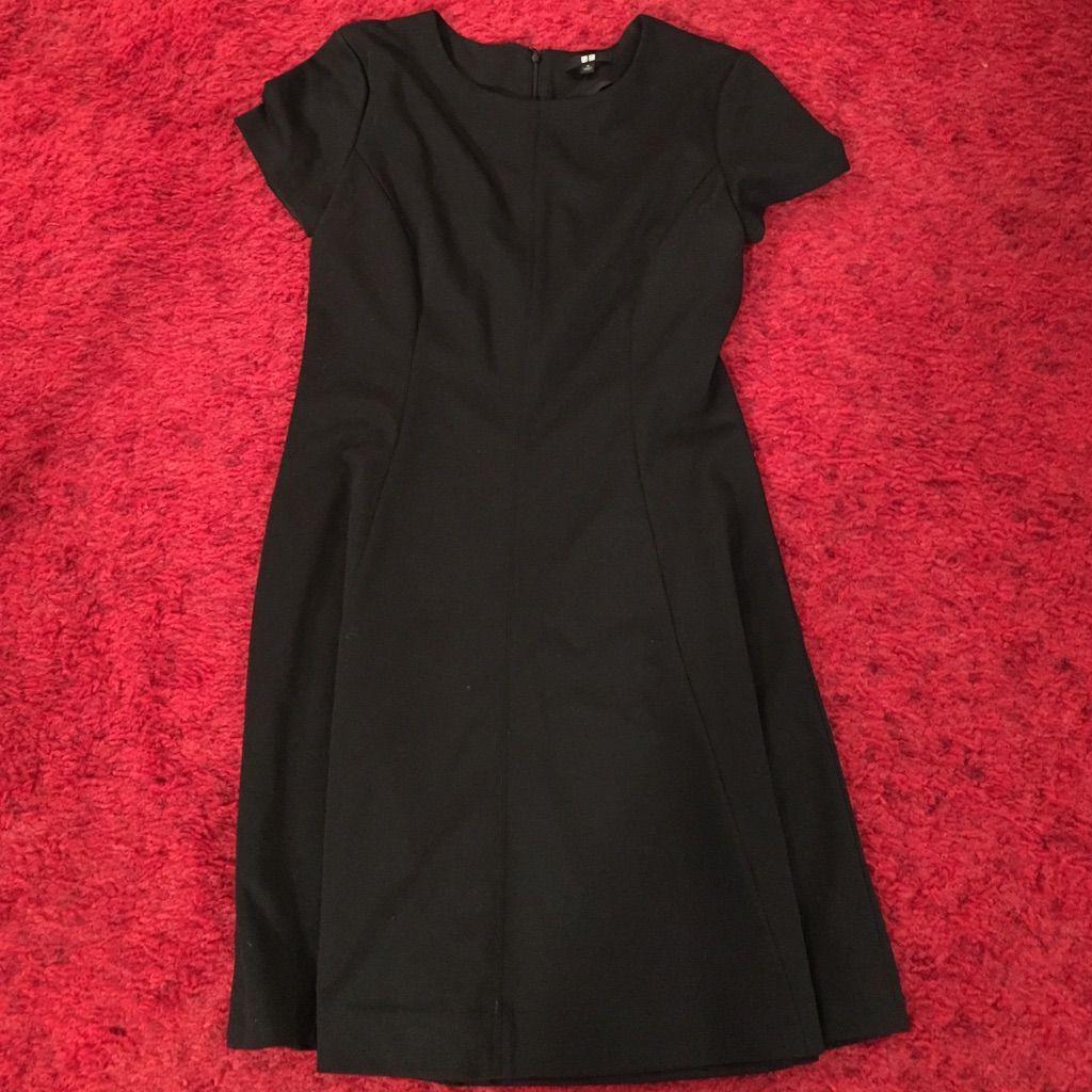 Short sleeve black dress uniqlo products pinterest short