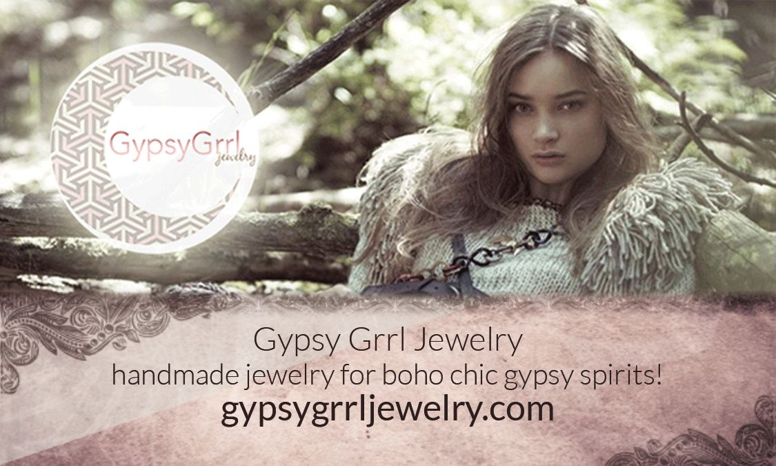 Business card. Gypsy grrl jewelry. Handmade one of a kind pieces ...