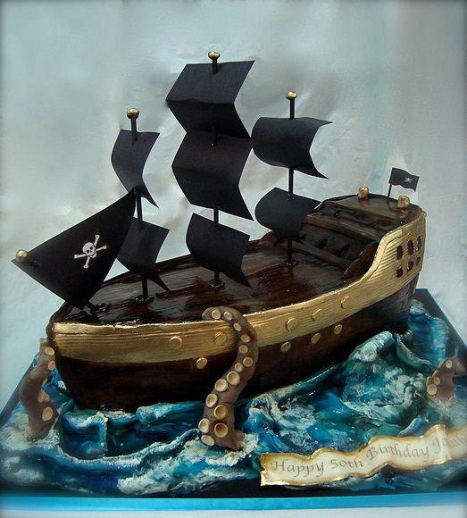 корабль торт из мастики фото