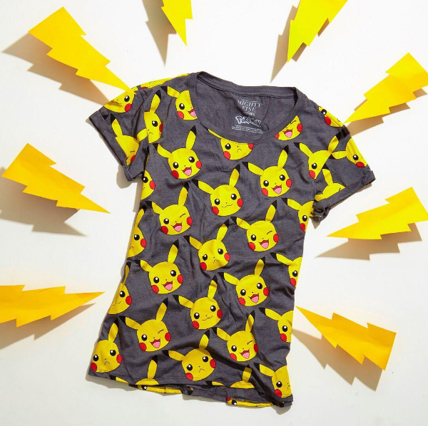 9acd5a7da That adorable lil' face tho! // Pokemon Pikachu Faces Cuff Sleeved Girls T- Shirt