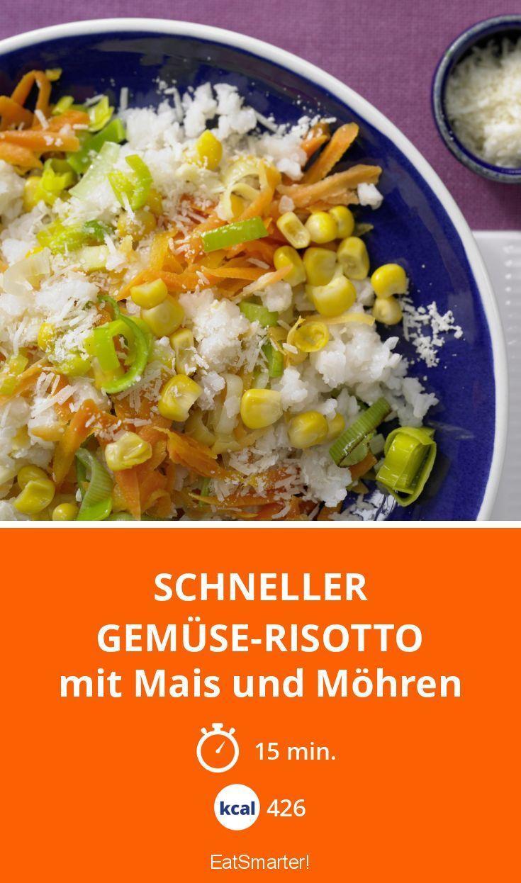Schneller Gemüse-Risotto - mit Mais und Möhren - smarter - Kalorien: 426 Kcal - Zeit: 15 Min. | eatsmarter.de