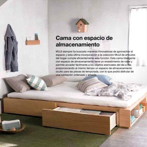 Muji Furniture Storage Bed - Décoration intérieure | Meubles muji, Décor de lit, Lit rangement