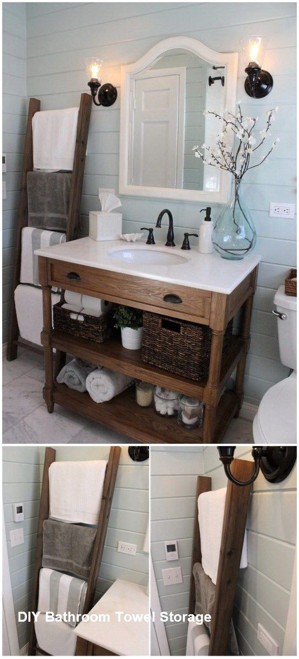 Great Diy Bathroom Towel Storage Ideas 1 Badezimmer Diy Badezimmer Dekor Diy Diy Badezimmer