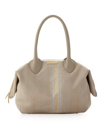 Harmony Snake-Print Tote Bag, Bone by Charles Jourdan at Last Call by Neiman Marcus.