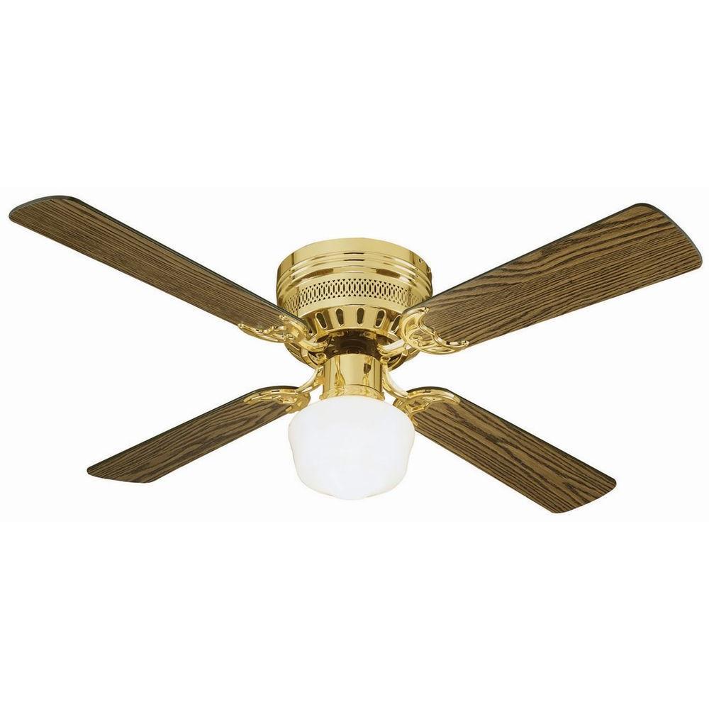 Design house millbridge hugger in polished brass ceiling fan