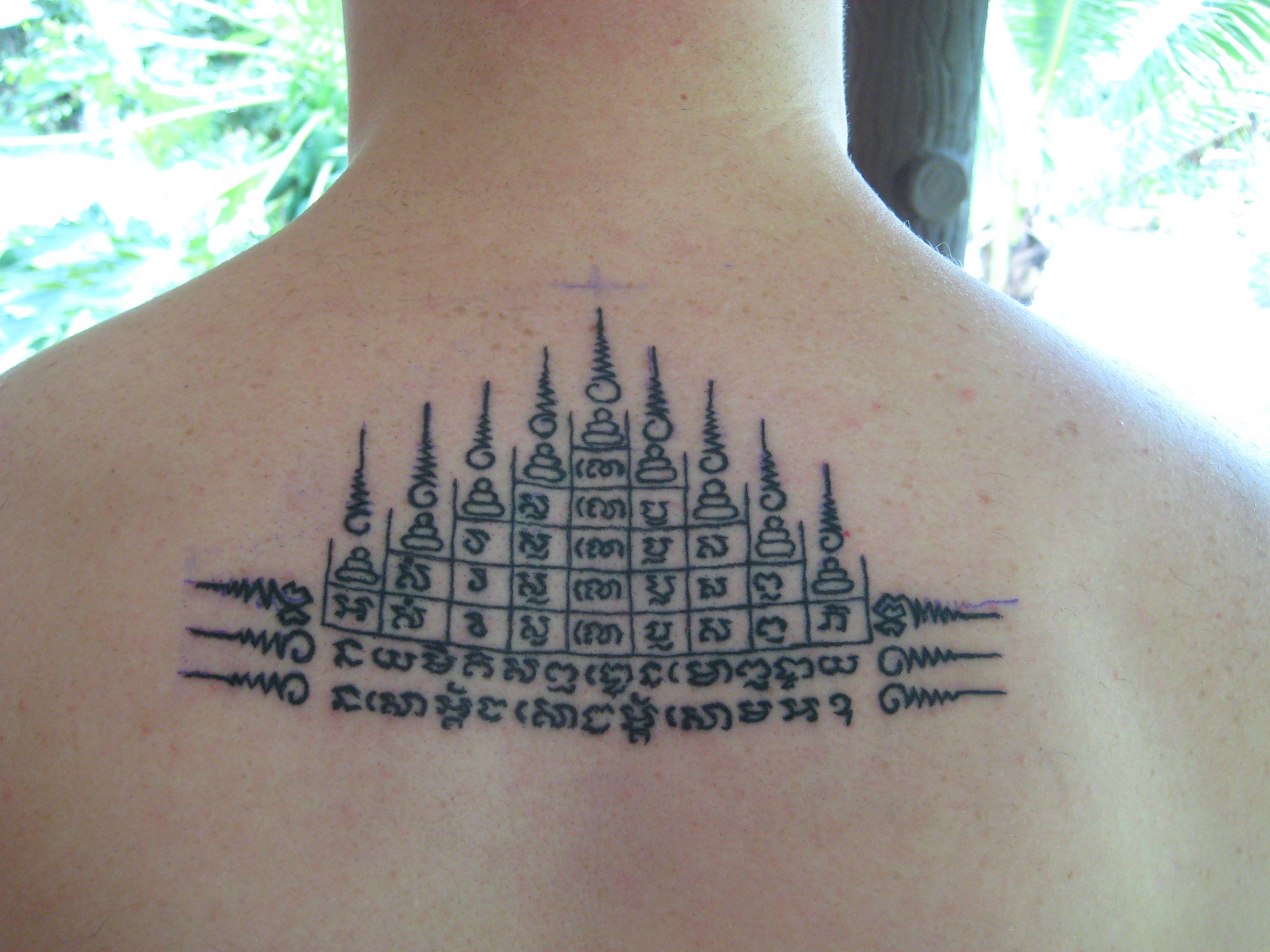 Thai buddhist tattoos traditional Tattooed in