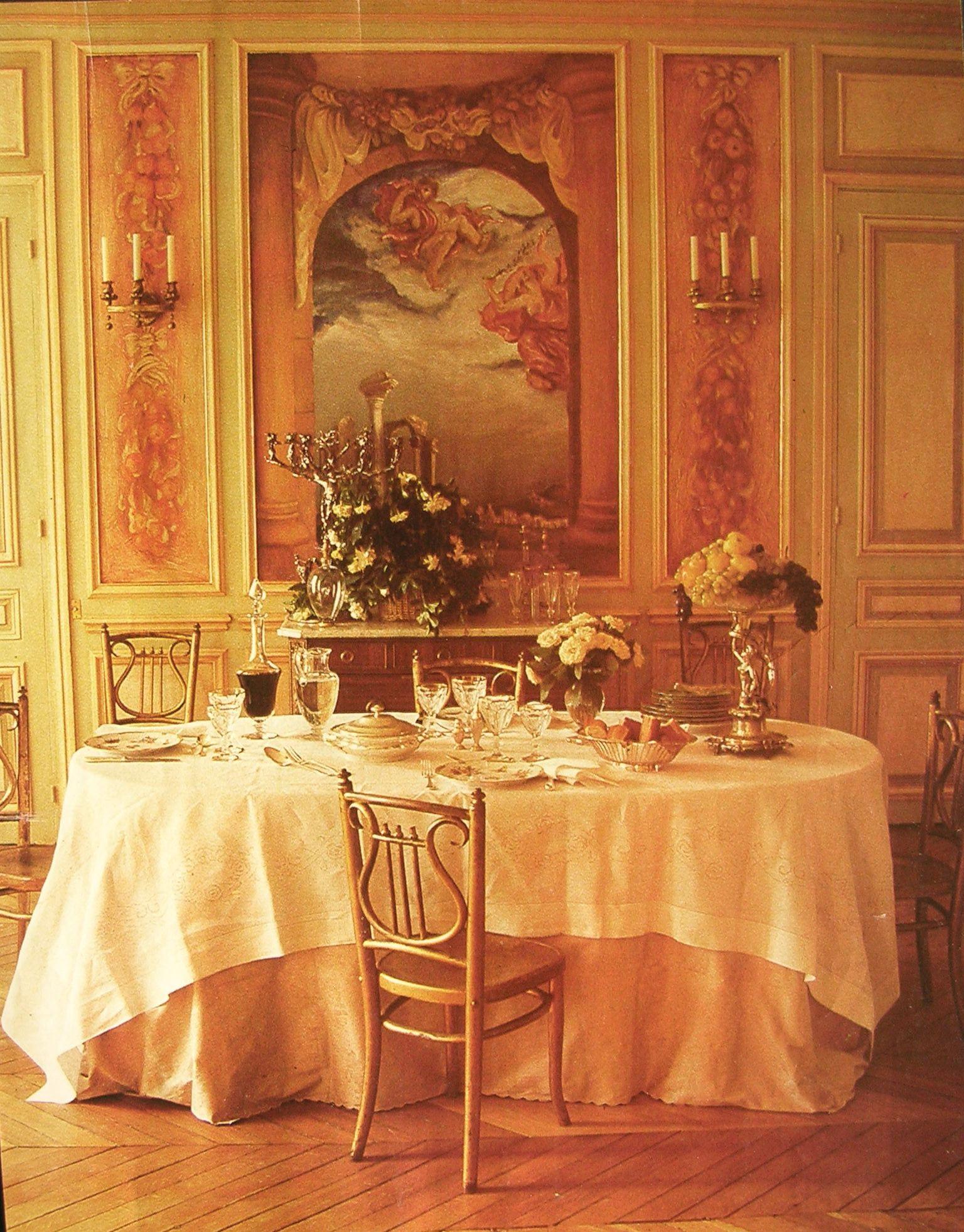Peinture d corative dans une salle manger patines for Peinture decoration