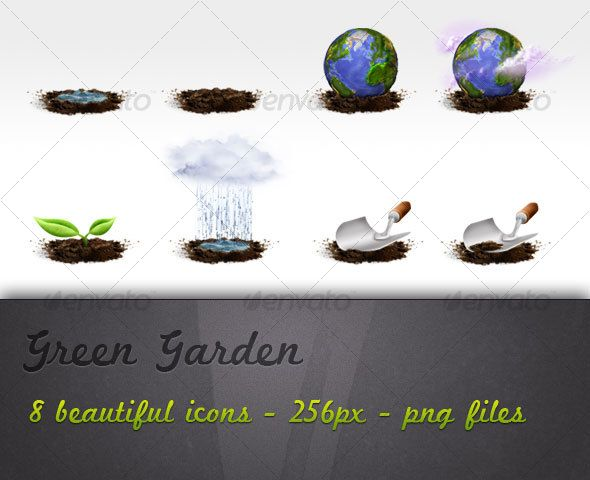 Green Garden - #Miscellaneous Icons Download here: https://graphicriver.net/item/green-garden/77939?ref=alena994