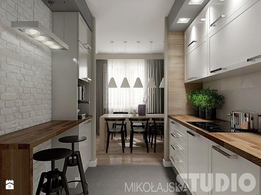 Kuchnia w stylu skandynawskim Kuchnia  zdjęcie od   -> Kuchnia Ciemno Szara