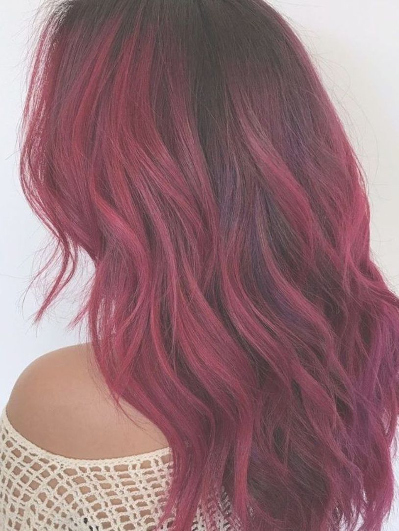 You Didn T Know You Needed Red Ombre Hair Inspo Until Now Red Ombre Hair Magenta Hair Best Ombre Hair