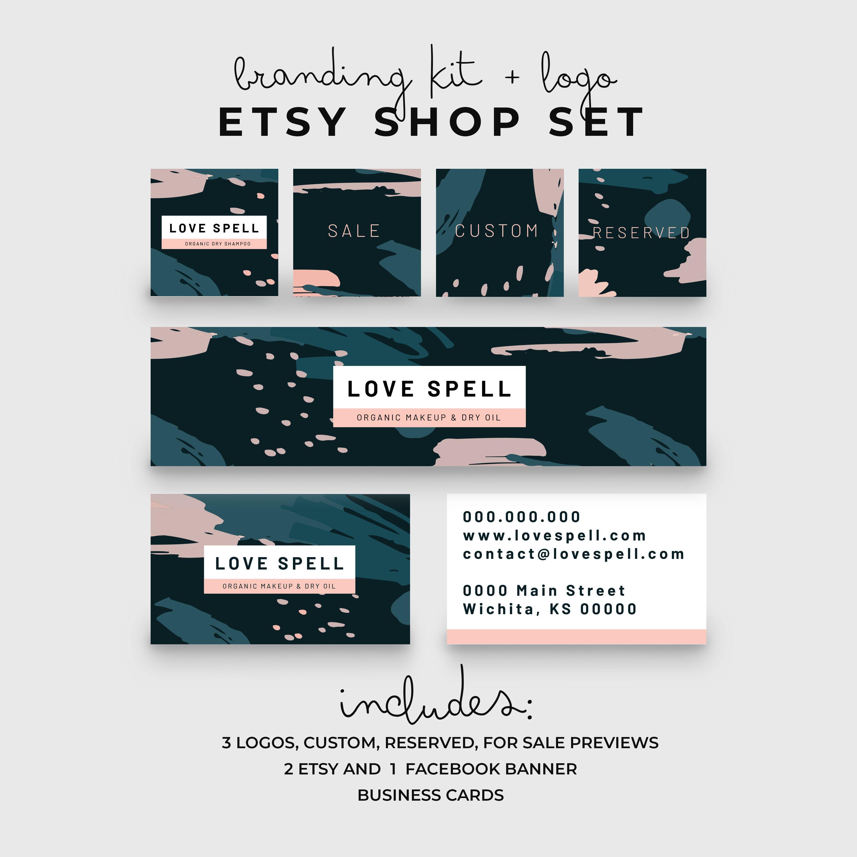 Banner Shop Branding Kit | Modern Logo Design | Memphis Design ...