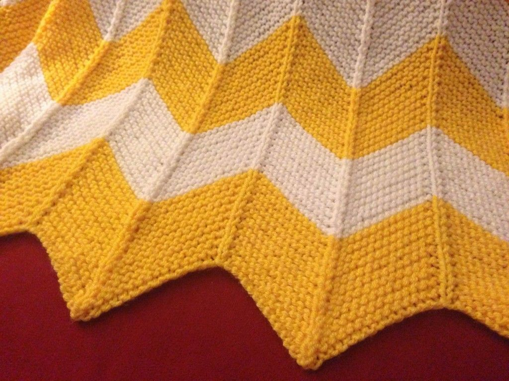 Chevron Knit Afghan Crochet Knitting Stitching