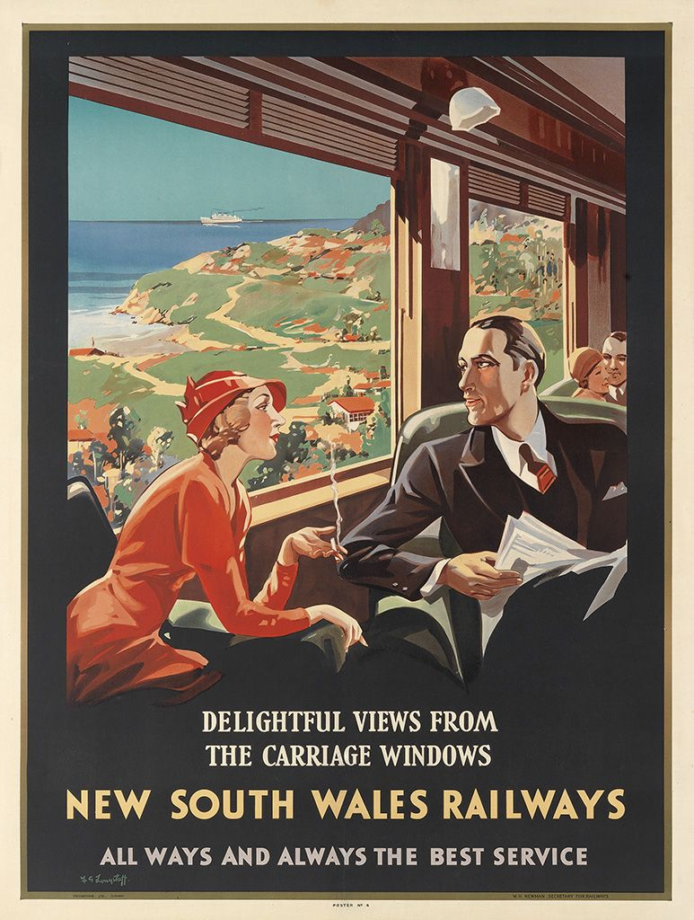 New South Wales Railways - Delightful Views from the Carriage Windows